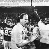 Photo - Barry Switzer celebrates Oklahoma's 35-10 victory over Penn State in the Orange Bowl on Jan. 1, 1986. The win gave the Sooners the 1985 national championship, which was the school's sixth title. AP photo