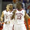 Oklahoma\'s Willie Warren (13) pumps his fist as the Sooners take on Syracuse during the second half of the NCAA Men\'s Basketball Regional at the FedEx Forum on Friday, March 27, 2009, in Memphis, Tenn. PHOTO BY CHRIS LANDSBERGER, THE OKLAHOMAN