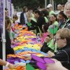 Various symbolic colors of spinning flowers are passed out to participants during the 2012 Oklahoma City Walk to End Alzheimer\'s at Bricktown Ballpark in Oklahoma City, OK, Saturday, September 15, 2012, By Paul Hellstern, The Oklahoman