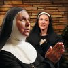Paula Parkhurst as Mother Abbess, foreground, and Jenny Rottmayer as Maria in this publicity photo for Jewel Box Theatre\'s summer production of