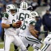 New York Jets quarterback Mark Sanchez (6) scrambles with the ball during second half of an NFL football game against the Seattle Seahawks, Sunday, Nov. 11, 2012, in Seattle. The Seahawks won 28-7. (AP Photo/Elaine Thompson)