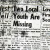Photo - A copy of an article in the Elk City paper on the teens who went missing from Sayre in 1970. A 1969 Camaro with the remains of three people was pulled from Foss Lake on Tuesday, Sept. 17, 2013.  David McDaniel - The Oklahoman