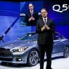 Infiniti President Johan de Nysschen talks about the Infiniti Q50 at the North American International Auto Show, Monday, Jan. 14, 2013, in Detroit, Mich. (AP Photo/Tony Ding)