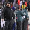 Photo - Eagles coach Chip Kelly looks away during the final drive an Wild Card NFL playoff game on Saturday, Jan. 4, 2014, in Philadelphia. (AP Photo/The Wilmington News-Journal, Andre L. Smith)  NO SALES