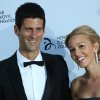 Photo - FILE - In this  Monday, July 8, 2013 file photo, Novak Djokovic, and Jelena Ristic arrive at a Gala dinner at the Roundhouse in Camden, north London, for the inaugural London fundraiser in aid of the Novak Djokovic Foundation. Novak Djokovic has tied the knot. The Wimbledon champion married his longtime girlfriend Jelena Ristic on Thursday, July 10 in an upscale resort on the Adriatic coast in Montenegro. Local media say the couple held a private ceremony, attended by family, friends and guests, but away from public eye. Authorities in Montenegro have sealed off Milocer and Sveti Stefan resorts to grant privacy. Djokovic and Ristic first met in high school. They have been a couple for more than eight years and are expecting their first child. (AP Photo/Ben Curtis, file)