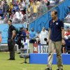 Germany\'s head coach Joachim Loew, left, looks over at United States\' head coach Juergen Klinsmann during the group G World Cup soccer match between the United States and Germany at the Arena Pernambuco in Recife, Brazil, Thursday, June 26, 2014. (AP Photo/Julio Cortez)