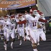 Photo - The Sooners take to the field during the college football game between the University of Oklahoma Sooners (OU) and the University of Texas El Paso Miners (UTEP) at Sun Bowl Stadium on Saturday, Sept. 1, 2012, in El Paso, Texas.  Photo by Chris Landsberger, The Oklahoman