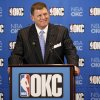 Clay Bennett smiles during a press conference held in Oklahoma City, Wednesday, July 2, 2008, after announcing that the Seattle Sonics will be moving to Oklahoma City. BY BRYAN TERRY, THE OKLAHOMAN