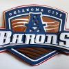 An Oklahoma City Barons logo at the entrance to the AHL hockey team\'s locker room at the Cox Convention Center in downtown Oklahoma City Friday, April 12, 2013. Photo by Paul B. Southerland, The Oklahoman