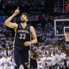 Memphis\' Marc Gasol (33) celebrates after making a shot in the final minute of Game 5 in the second round of the NBA playoffs between the Oklahoma City Thunder and the Memphis Grizzlies at Chesapeake Energy Arena in Oklahoma City, Wednesday, May 15, 2013. Memphis won 88-84. Photo by Bryan Terry, The Oklahoman
