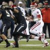 Oklahoma\'s Trevor Knight (9) runs during an NCAA college football game between the University of Oklahoman (OU) Sooners and the Baylor Bears at Floyd Casey Stadium in Waco, Texas, Thursday, Nov. 7, 2013. Baylor won 41-12. Photo by Bryan Terry, The Oklahoman