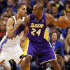 Los Angeles\' Kobe Bryant (24) works against Oklahoma City\'s Kevin Martin (23) during an NBA basketball game between the Oklahoma City Thunder and the Los Angeles Lakers at Chesapeake Energy Arena in Oklahoma City, Friday, Dec. 7, 2012. Photo by Nate Billings, The Oklahoman
