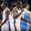Oklahoma City\'s Serge Ibaka (9) reacts after being called for a foul during the NBA preseason basketball game between the Oklahoma City Thunder and the Denver Nuggets at the Chesapeake Energy Arena, Sunday, Oct. 21, 2012. Photo by Sarah Phipps, The Oklahoman