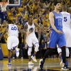 Warriors go big to stay alive vs. Thunder