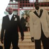 Kendrick Perkins and his grandfather, Raymond Lewis, at Perkins\' wedding. Lewis served as his grandson\'s best man. PHOTO PROVIDED