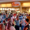 Chick-fil-A customers flood the location at Oakwood Mall Wednesday, Aug. 1, 2012, in Enid, Okla., to show support for the Christian-run company who supports traditional values and has voiced an open opposition to gay marriage. Chick-fil-A supporters are planning to eat at restaurants in the chicken chain as the company continues to be criticized for an executive\'s comments about marriage and family. (AP Photo/Enid News & Eagle, Billy Hefton)