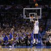 Oklahoma City\'s Kevin Durant (35) shoots a basket during an NBA basketball game between the Oklahoma City Thunder and the Golden State Warriors at Chesapeake Energy Arena in Oklahoma City, Friday, Jan. 17, 2014. Oklahoma City won 127-121. PHOTO BY BRYAN TERRY, The Oklahoman