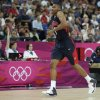 United States\' Russell Westbrook hobbles off the court as he leaves the game against Argentina during a men\'s semifinals basketball game at the 2012 Summer Olympics, Friday, Aug. 10, 2012, in London. (AP Photo/Charles Krupa) ORG XMIT: OBKO149