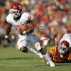 Oklahoma\'s Brennan Clay (24) carries the ball on his way to a touchdown in the third quarter during a college football game between the University of Oklahoma (OU) and Iowa State University (ISU) at Jack Trice Stadium in Ames, Iowa, Saturday, Nov. 3, 2012. OU won, 35-20. Photo by Nate Billings, The Oklahoman