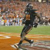 Photo - COLLEGE FOOTBALL: Oklahoma State's Justin Blackmon (81) scores a touchdown during the Fiesta Bowl between the Oklahoma State University Cowboys (OSU) and the Stanford Cardinals at the University of Phoenix Stadium in Glendale, Ariz., Monday, Jan. 2, 2012. Photo by Bryan Terry, The Oklahoman