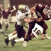 Chickasha\'s Steven Elrod, left, tries to strip the ball from Ada\'s Brian Odom during a 1998 game in Norman. PHOTO FROM THE OKLAHOMAN\'S ARCHIVES