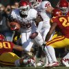 Oklahoma\'s Damien Williams (26) runs during a college football game between the University of Oklahoma (OU) and Iowa State University (ISU) at Jack Trice Stadium in Ames, Iowa, Saturday, Nov. 3, 2012. Oklahoma won 35-20. Photo by Bryan Terry, The Oklahoman
