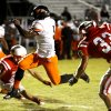 Douglass\' Chavez Wyatt scores against McLoud in high school football on Thursday, Oct. 18, 2012 in McLoud , Okla. Photo by Steve Sisney, The Oklahoman