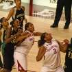 The Paris sisters dominating the paint against Baylor, 2/28.  Community Photo By:  Butch Enterline  Submitted By:  Henry, Norman