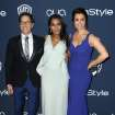 From left, Dan Bucatinsky, Kerry Washington, and Bellamy Young arrive at the 15th annual InStyle and Warner Bros. Golden Globes after a party at the Beverly Hilton Hotel on Sunday, Jan. 12, 2014, in Beverly Hills, Calif. (Photo by Matt Sayles/Invision/AP)