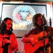 Tulsa-based duo Desi and Cody performing an acoustic set at SXSW on Tuesday afternoon.