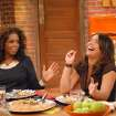 "** FOR USE WITH AP WEEKLY FEATURES **   In this photo provided by King World,  Rachael Ray jokes with Oprah Winfrey, during the taping of her new talk show ""Rachael Ray.""  After four years as the darling of cable's Food Network, Ray is adding a daily hour-long syndicated talk show to the already breathtaking array of programs she headlines.  (AP Photo/King World) ORG XMIT: NY608"