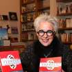 """Lolly  Anderson was the honoree at a reception and book signing event at Full Circle Book Store. She has just written her first novel called """"Vermeer's Lady in Waiting. It is her third book. (Photo by David Faytinger)."""