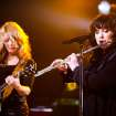 FILE - In this Oct. 2, 2012 publicity file photo provided by iHeartRadio, Nancy Wilson, left, and Ann Wilson of Heart perform songs from their new album