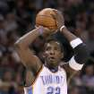 OKLAHOMA CITY THUNDER / MIAMI HEAT / NBA BASKETBALL: Oklahoma City's Jeff Green during the Thunder - Miami game January 18, 2009 in Oklahoma City.    BY HUGH SCOTT, THE OKLAHOMAN ORG XMIT: KOD