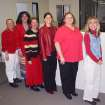 """The office staff at MAR-K Specialized Mfg. supports """"Go Red for Women"""" and the American Heart Assoc. on Feb. 2nd.  Community Photo By:  Craig Burns  Submitted By:  Lynn, Edmond"""