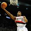 Portland Trail Blazers power forward Thomas Robinson (41) drives to the basket during the fourth quarter of an NBA basketball game against the Phoenix Suns on Wednesday, Nov. 13, 2013, in Portland, Ore. The Blazers won the game 90-89. (AP Photo/Steve Dykes)