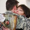 Sgt. Micah Bennett, Tulsa, gets a hug from his mother, Pamela Davis of Tulsa,  after the 45th Infantry Brigade Combat Team Deployment Ceremony in downtown Oklahoma City, Wednesday, Feb. 16, 2011. This will be Bennett's second deployment.  Photo by Jim Beckel, The Oklahoman