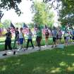 Participants in the Walk of HOPE pass by the field of flags south of the State Capitol. The Walk of HOPE is held to draw awareness of gynecologic cancers.  Community Photo By:  April Sandefer  Submitted By:  April,