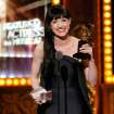 """Lena Hall accepts the award for best performance by an actress in a featured role in a musical for """"Hedwig and the Angry Inch"""" on stage at the 68th annual Tony Awards at Radio City Music Hall on Sunday, June 8, 2014, in New York. (Photo by Evan Agostini/Invision/AP)"""