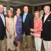Bud Beeler, Ann Sutherland, Erin Moore, Blake Beeler, Barbara Beeler, David Sutherland were at the party for Moore and Blake Beeler along with their friends .They gathered for cocktails and hors d'oeuvres at Harry's Bar at the Oklahoma City Golf & Country Club to celebrate their upcoming wedding. They will be married in June in Santa Fe, New Mexico. (Photo by David Faytinger).