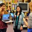 This publicity image released by ABC Family shows Karla Gutierrez, left, and Ashley Shimizu in a scene from ABC Family's TV series,