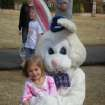 Raegan Reece and the Easter Bunny at the Oaktree Park Homeowner's Egg Hunt on 3/22/08.  Community Photo By:  pia allen  Submitted By:  michael, edmond
