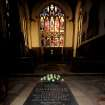 A general view of a memorial stone to King Richard III, inside Leicester Cathedral, England, Monday Feb. 4, 2013. Leicester University declared Monday that the remains  found underneath a car park last September at the Grey Friars excavation in Leicester, were