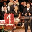 Bob Stoops, Oklahoma head football coach, explains how important Austin Box was to the success of the Oklahoma Sooners and to the community on Friday, May 27, 2011, during a