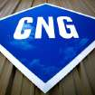 Sign in front of CNG Interstate, an Edmond business that specializes in compressed natural gas conversions.  Photo by Jim Beckel, The Oklahoman