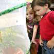 Reagan Oltmanns, left, 3, and John Moss, 3, pose with butterflies at First Christian Church in Yukon on Tuesday, April 7, 2009. The church hopes to release the butterflies on Easter Sunday.  Photo by John Clanton, The Oklahoman