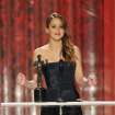 Jennifer Lawrence accepts an award on stage at the 19th Annual Screen Actors Guild Awards at the Shrine Auditorium in Los Angeles on Sunday Jan. 27, 2013. (Photo by John Shearer/Invision/AP)