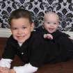 Sam Hedger is seen with his baby brother, Jake, who died in March at almost 9 months old. PHOTO PROVIDED