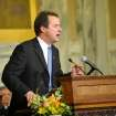 Gov. Steve Bullock talks about tax laws in his State of the State address Wednesday evening Jan. 30, 2013 in the House Chambers. Bullock promised on Wednesday to