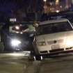In this image provided by KEYT-TV, a car window is shot out after a mass shooting near the campus of the University of Santa Barbara in Isla Vista, Calif., Friday, May 23, 2014.  A drive-by shooter went on a